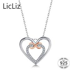 contemporary floating heart pendant necklace new 2018 licliz silver infinity necklace cubic zirconia stone