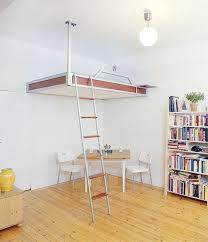 hanging loft bed scandinavian style