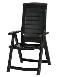 allibert aruba stylish outdoor garden foldable patio plastic chair graphite colour