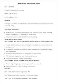 Education Resume Template Best 9212 Education Resume Template Sample Adult Education Teacher Resume