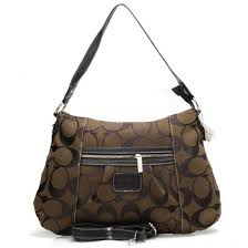 Coach Legacy In Signature Medium Coffee Shoulder Bags 21405