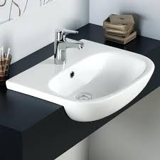 bathroom sink design astonishing design inset bathroom sink curved cruise semi recessed basin with one tap