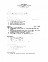 Resume Unique Template For High School Resume Template For Ath