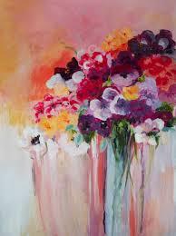 original acrylic painting abstract flowers nikiardenfineart via