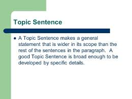how to write your topic sentences and your thesis statement 3 topic