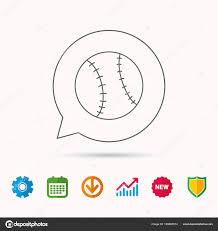 Baseball Signals Chart Baseball Icon Sport Ball Sign Stock Vector Tanyastock