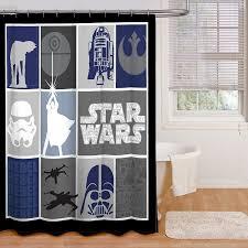 delightful design star wars shower curtain precious com classic quilt microfiber 70 x 72 fabric