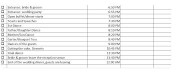 Wedding Layout Generator Wedding Day Timeline Template Generator Printable Download Word 6pm