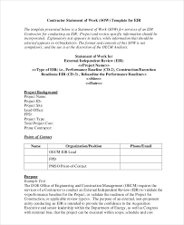 It Statement Of Work Statement Of Work Template 12 Free Pdf Word Excel Documents