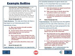 essay outline  example outline