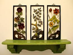 found in ithaca set of three mid century hong kong metal wall for best and