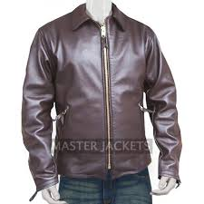 robert scott val kilmer brown biker leather jacket from spartan
