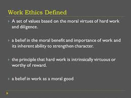 define work ethic co define work ethic