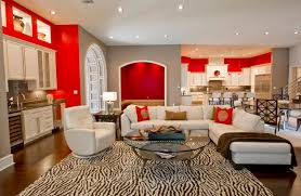 accent red walls for living room