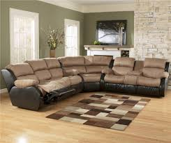 ashley furniture presley cocoa 3 piece sectional sofa with reclining seats ahfa reclining sectional sofa dealer locator
