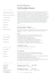 download sample resume template web designer resume template web developer resume template lovely