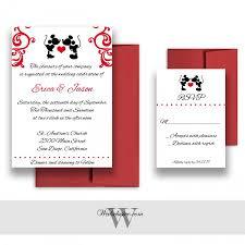 mickey and minnie wedding invitations disney weddings fairytale wedding cards deposit