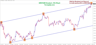 Usd Cad Reaches The Top Level On H4 Chart Forex Gdp