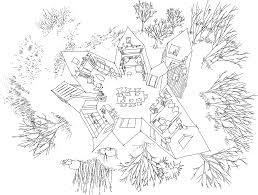 village house powerhouse company Village House Design Plan village house sketch 2 Bedroom House Simple Plan