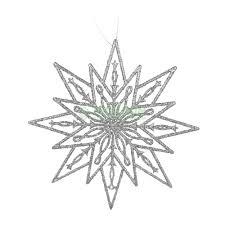 <b>Игрушка Weiste Снежинка</b> 250мм серебряная (92210 ...