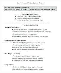 Functional Resume Format Simple Functional Resume Format Samples Sample Functional Resume Business