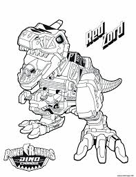 Coloriage Power Rangers Dino Charge Red Zord Dessin