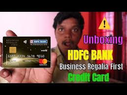 hdfc bank business regalia first credit