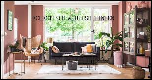 Eclectische Woonkamer In Blush Tinten Interior Exterior