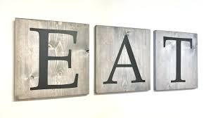 incredible design ideas eat wall decor modern home wooden letters elegant decoration and drink in kitchen