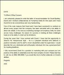 Re mendation Letter for Employee