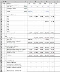 Asset And Depreciation Schedule Hands On Financial
