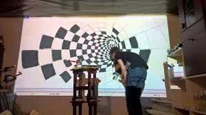 how to draw illusion on wall with epson projector timelapse