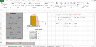 Small Picture civil engineering sheet wall design spreadsheet retaining