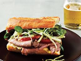 roast beef sandwich recipe. Plain Roast Roast Beef Sandwiches With Watercress Slaw To Sandwich Recipe A