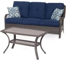 cambridge merritt 2 piece all weather patio seating set with navy cushions