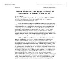 compare the american dream the real lives of the migrant  document image preview