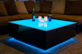 cubix series x led lighted coffee table lounge furniture