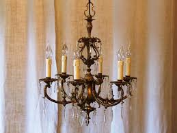 brass and crystal italian chandelier