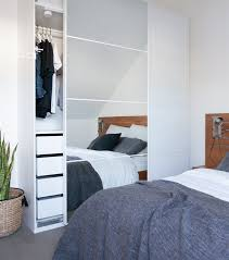 ikea pax wardrobe lighting. fill your bedroom with double the light mirrored pax wardrobe doors great idea spotted ikea pax lighting r