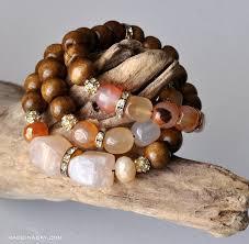 diy wood stone bead bracelets