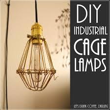 diy industrial lighting. DIY Industrial Cage Lights Diy Lighting