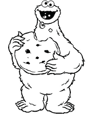 Cookie Monster Coloring Page Respectfulejectco