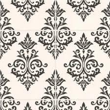 GRAHAM & BROWN PALLADE DAMASK TILE BLACK WHITE KITCHEN BATHROOM ...
