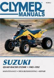 suzuki atv manuals diy repair manuals clymer suzuki quad racer lt250r atv 1985 1992 service repair manual