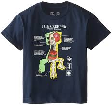 Amazon.com: JINX Minecraft Big Boys\u0027 Creeper Anatomy Youth T-Shirt ...