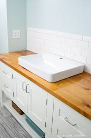 diy wood countertop bathroom how to build protect a vanity top houseful of handmade