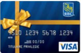 carte de crédit prépayée visa cadeau rbc banque royale du canada visa rbc giftcard prepaid credit card