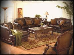 Leather Living Room Set Clearance Ashley Living Room Furniture Sets With Classical Leather Sofas And