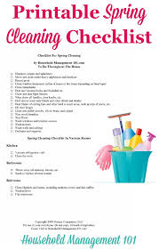 Spring Cleaning Checklist For Your Home With Free Printable