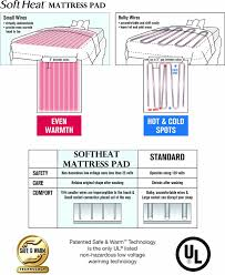 soft heat micro plush top low voltage electric heated queen Heating Pad Wiring Diagram soft heat micro plush top low voltage electric heated queen mattress pad, white amazon ca home & kitchen sunbeam heating pad wiring diagram